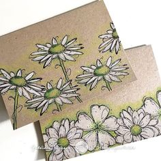 These #cards are #onmyblogtoday #darkroomdoorstamps #fineflowers #carandachepencils #stamping #cardmaking #quickandeasy