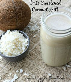 Date Sweetened Coconut milk