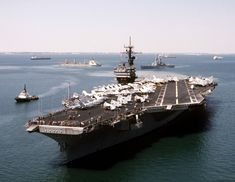 15 Sep 1990: USS John F. Kennedy CV-67 in the Great Bitter Lake