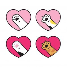 Printable Stickers, Cute Stickers, Cartoon Stickers, Mini Tattoos, Cute Tattoos, Kawaii Drawings, Cute Drawings, Doodle Art, Cat Doodle