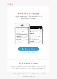 Cotap – Mobile Reminder - Really Good Emails