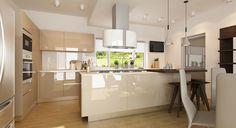 Imagini pentru bucatarii moderne mdf lucios Bar, Interior Design, Table, Kitchen Designs, Kitchen Ideas, Furniture, Home Decor, Caramel, Chic