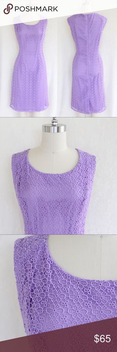 Adrianna Papell Lavender Crochet Midi Dress This crochet dress is absolutely stunning! Worn once. Excellent condition! Adrianna Papell Dresses Midi