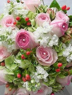 Flowers Gif, Flowers Nature, Beautiful Flowers, Happy Birthday Greetings, Garden Inspiration, Floral Wreath, Card Making, Wreaths, Wallpaper