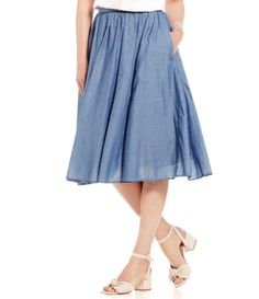 Shop for Ivanka Trump Chambray Voile Long Pleated Skirt at Dillards.com. Visit Dillards.com to find clothing, accessories, shoes, cosmetics & more. The Style of Your Life.