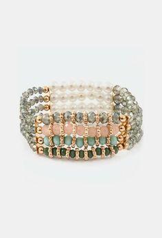 Crystal Cassidy Bracelet in Olivine