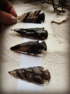 """Gorgeous """"Midnight Lace"""" Black Obsidian Arrowheads at SacredLandSage- Etsy; two sizes. I find the smoky color a gentle purifier and a wonderful talisman. Sacred Garden, Snowflake Obsidian, Wood Resin, Sage, Etsy Seller, Gems, Interior Design, Architecture, Crystals"""