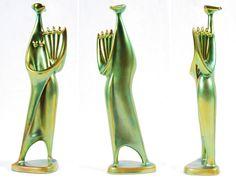 MID-CENTURIA : Art, Design and Decor from the Mid-Century and beyond: János Török Ceramic Figures Ceramic Figures, Pottery Art, Mid-century Modern, Glass Art, Art Deco, Mid Century, Hungary, Ceramics, Tiles