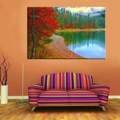 3 Piece Set Red Leaves Landscape Wall Canvas Painting For Living Room Decoration   Wall Art Canvas Painting  Landscape Wall Art Canvas Painting natural nature landscape sky Canvases home decor ideas wall products art panels designs art beautiful living rooms art sets gift decoration ideas awesome cool unique cheap inspirational backgrounds for sale buy online shopping shops products website links USA UK Australia Canada Spain France