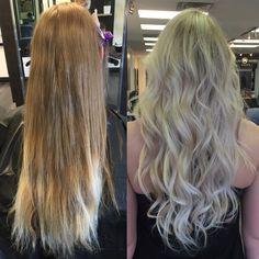 Heavy blonde Balayage by Carley Throgmorton Smedley, IG: @saltcityhair, at Dallas Roberts Salon.
