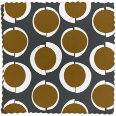 Lucille Fabric in Charcoal - Large / Cotton Canvas / 8x8 Swatch