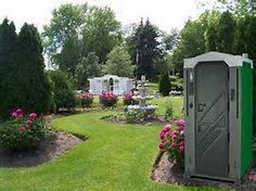 Image result for Porta Potty For Outdoor Wedding