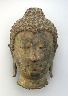 Head of a Buddha ca. 1500   Lan Na period  Bronze H: 32.1 W: 21.3 D: 20.9 cm Thailand