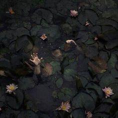 dark, theme, and water Bild