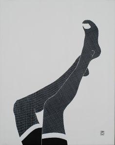 """""""Femme fatale"""" Acrílico 73 x 92 cm 115 €"""