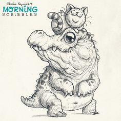 Artist Chris Ryniak Unlikely friends #morningscribbles
