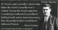 A selection of quotes from Irish nationalist, Michael Collins surrounding the Easter Rising and the Anglo-Irish Treaty. Ireland 1916, Irish Independence, Images Of Ireland, Irish People, Michael Collins, Irish Culture, Family Genealogy, Irish Men, Historical Photos