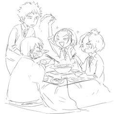 Juichi Fukutomi,Yasutomo Arakita,Jinpachi Toudou and Hayato Shinkai