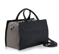 Black and Grey Beetle Bag by Bonastre - shop at Roztayger