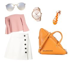 """""""chick style"""" by revy-irviani ❤ liked on Polyvore featuring Misha Nonoo, Topshop, Camilla Elphick, Balenciaga, Ray-Ban and Ted Baker"""