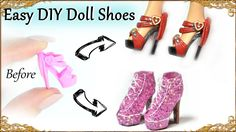 6:08  Easy DIY Barbie / Doll Custom Shoes - How to recycle basic doll shoes