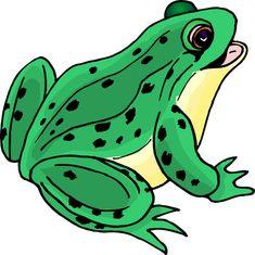 Happy Frog Clip Art