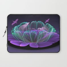 Water lily in a purple pond Laptop Sleeve