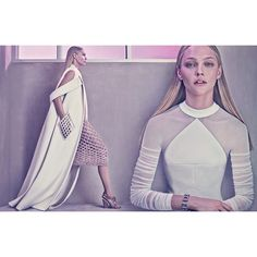 Image 5 #Balenciaga #SS15 #Campaign featuring Sasha Pivovarova, shot by Steven Klein.