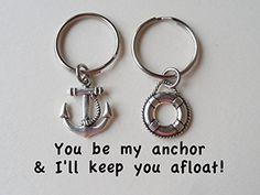 Anchor & Lifesaver Ring Keychain Set, Couple Key Ring Gift, Husband Wife, Girlfriend Boyfriend, Best Friends, http://www.amazon.com/dp/B00JM6QIMM/ref=cm_sw_r_pi_awdm_no2Vtb1PAMSH5