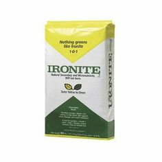 Lilly Miller 436136 Ironite Mineral Supplement Granules, 40-Pound by Lilly Miller. $42.23. Covers up to 4000 square feet. 40-percent quick release, 60-percent slow release. Does not burn. For lawns, trees, shrubs, flowers, and gardens. Good source of micronutrients and trace elements. Lilly Miller 436136 Ironite Mineral Supplement contains secondary nutrients that plants need to grow to be healthy and green. Use it to give yellowing plants a fresh splash of color. Safe for...