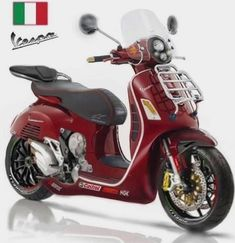 Vespa 300, New Vespa, Vespa Sprint, Piaggio Vespa, Lambretta Scooter, Vespa Scooters, 125cc Scooter, Scooter Custom, Scooter Design