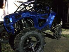 T-Bird Blue:  Polaris RZR 1000 on 36's  Loaded Motorsports