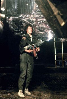 An iconic film which shaped generations of sci-fi / horror films to come. Alien is a masterpiece and a film that can still invoke fear and wonder even after… Alien 1979, Alien Vs, Horror Icons, Sci Fi Horror, Sigourney Weaver Movies, Ridley Scott Movies, Alien Resurrection, Predator Alien, Movies