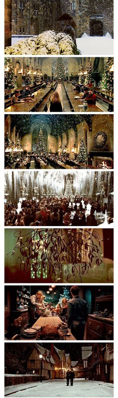 harry potter movies holiday interiors
