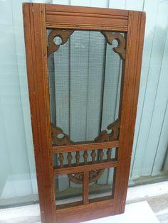 "Antique RARE Salesman Sample 20"" x 9"" Wooden Screen Door All Original Finish | eBay"