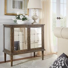 Found it at Wayfair Supply - Roquefort Mirrored Accent Cabinet Mirrored Furniture, Mirror Cabinets, Traditional Furniture, Furniture Making, All Modern, Entryway Tables, Foyer, Contemporary, Interior Design