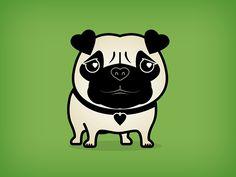 Love Pug on Behance