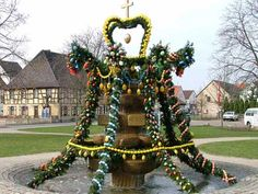 Osterbrunnen in Oberhaid. An Easter tradition in the small town I lived in. How I miss my small hometown!