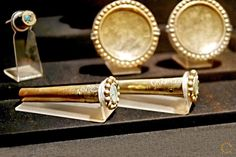 Moche Tubular Earrings. Larco Museum, Lima