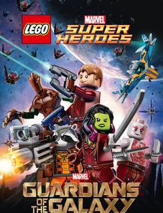 Lego Marvel Super Heroes - Guardians of the Galaxy: The Thanos Threat is a computer-animated Lego film based on Marvel Comics and starring the. Films Marvel, Marvel Movie Posters, Lego Marvel's Avengers, Lego Batman, Lego City, Guardians Of The Galaxy, Lego Dc Comics, Deadpool, Galaxy Movie