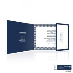 Band of Stars All-In-One Bar Mitzvah Invitation - All In One Invitations - Bar & Bat Mitzvah | eInvite.com