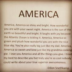 America, America... A funny description.