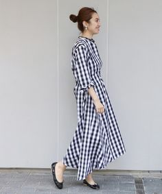 FRAMeWORK(フレームワーク)の「アシンメトリヘムシャツワンピース2◆(ワンピース)」 - WEAR Japan Fashion, Office Outfits, Gingham, Plaid, One Piece, Shirt Dress, My Style, Chic Chic, Japan Style