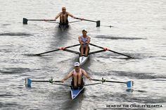 Singles at the Head Of The Charles Regatta  #rowing