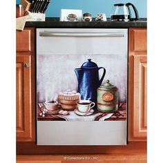 Coffee Break Magnetic Dishwasher Cover
