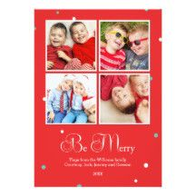Modern Dots Holiday Multi Photo Card