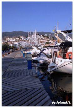Marina in Poros Island, Greece