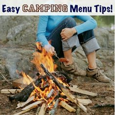 34 Quick and Easy Camping Menu Tips! gives me a new excuse to get a new cast iron skillet..!