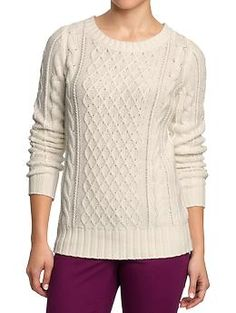Women's Chunky Cable-Knit Sweaters | Old Navy $29.94