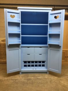 Free standing Kitchen Larder. Put a bit of colour in your kitchen! Cobwebs Furniture Company.